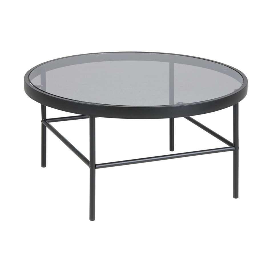 Salontafel Jena - zwart - Ø80 cm - Leen Bakker