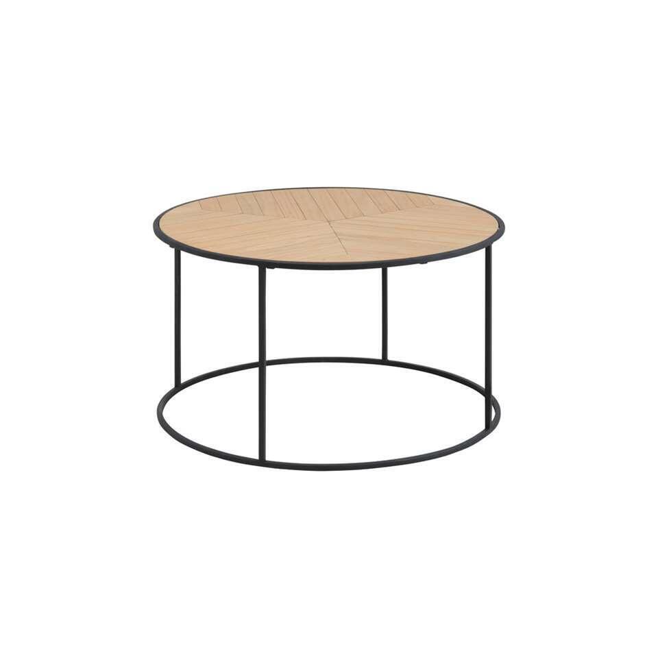 Salontafel Foggia – naturel – 45xØ80 cm – Leen Bakker