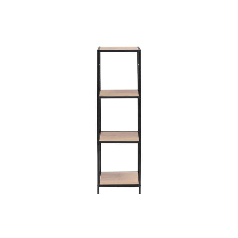 Boekenkast Jaxx - eikenkleur - 119,5x35x37 cm - Leen Bakker