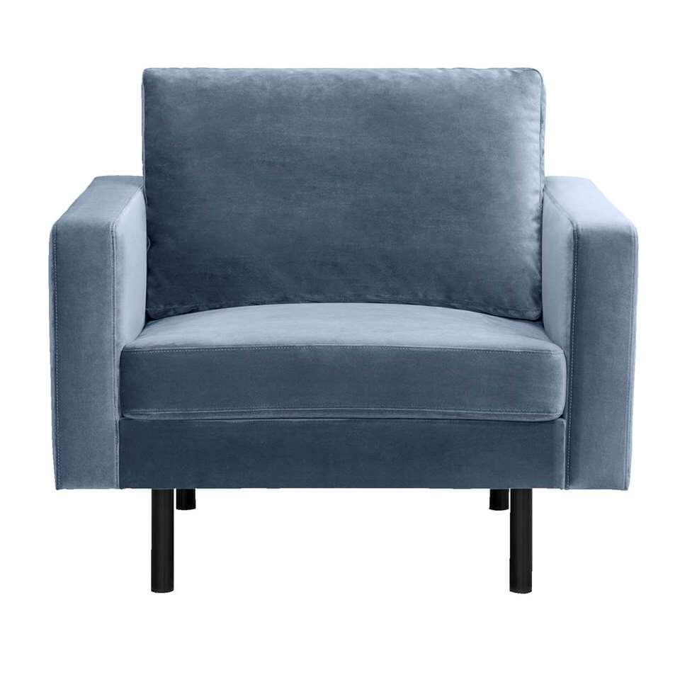Fauteuil Collin - velvet - blauw