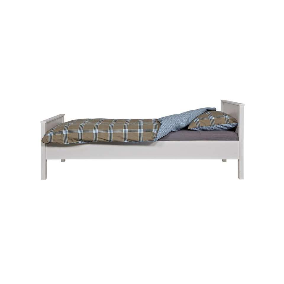 Woood bed Jade - wit - 80x210x97 cm