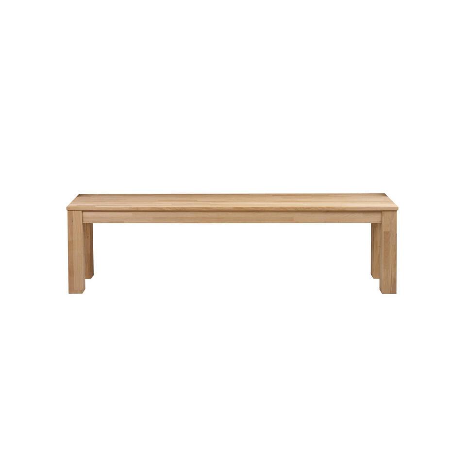Woood bankje Largo - eikenkleur - 46x160x30 cm