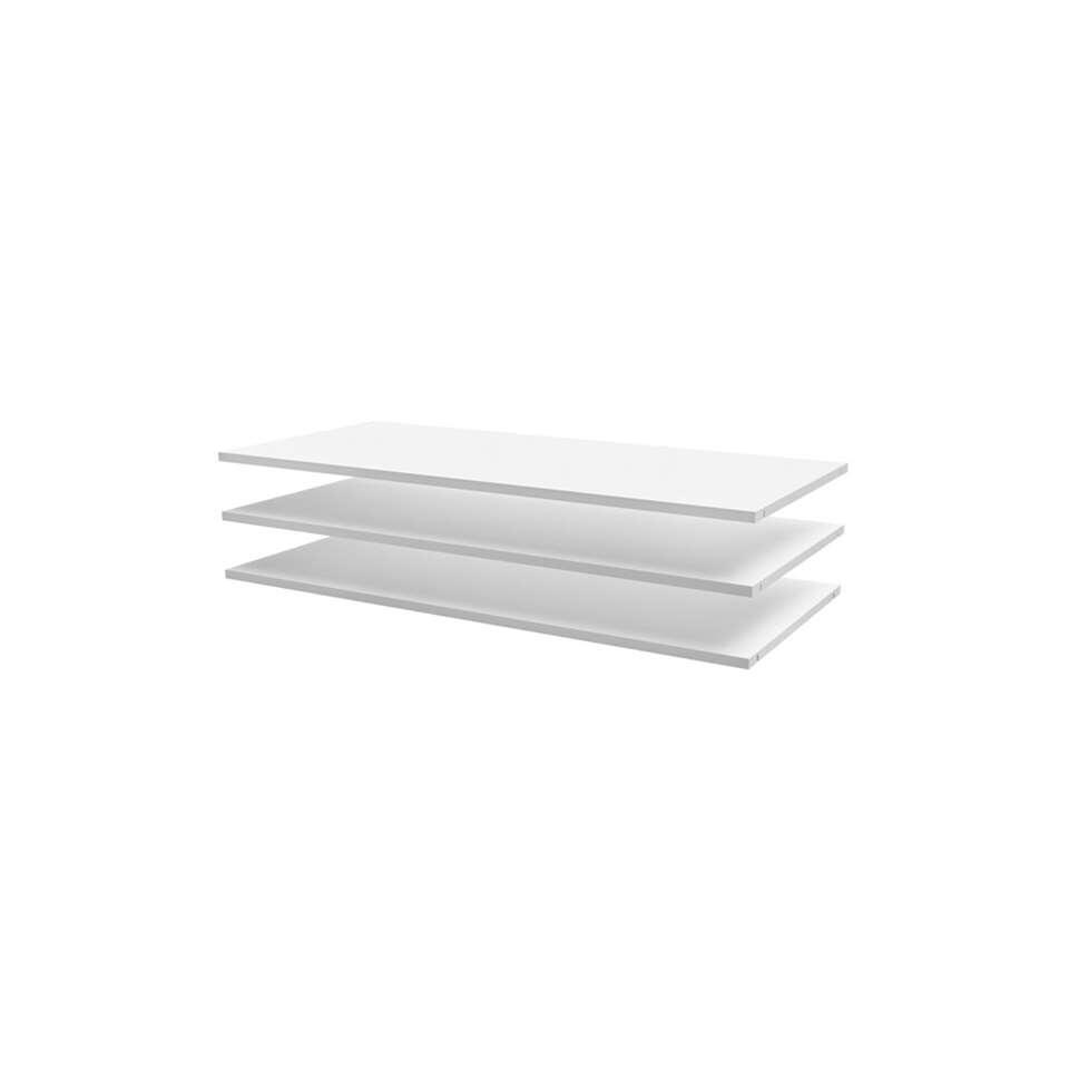 Woood legplankenset Luuk - wit - 109,5x50 cm (3 stuks)