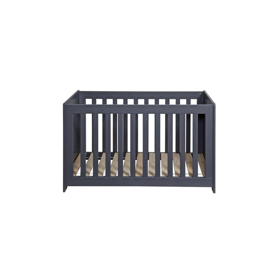 Woood ledikant New Life – staalgrijs – 60×120 cm – Leen Bakker