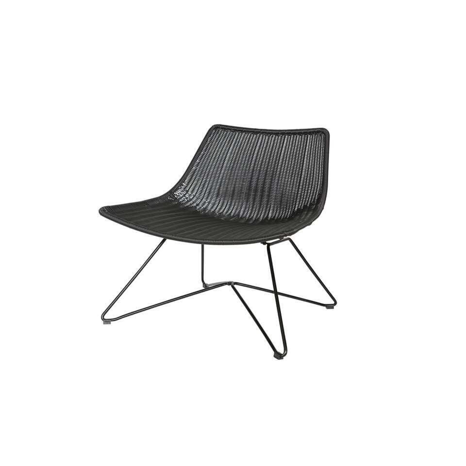 Woood fauteuil Otis - noir - 77,5x65x69 cm