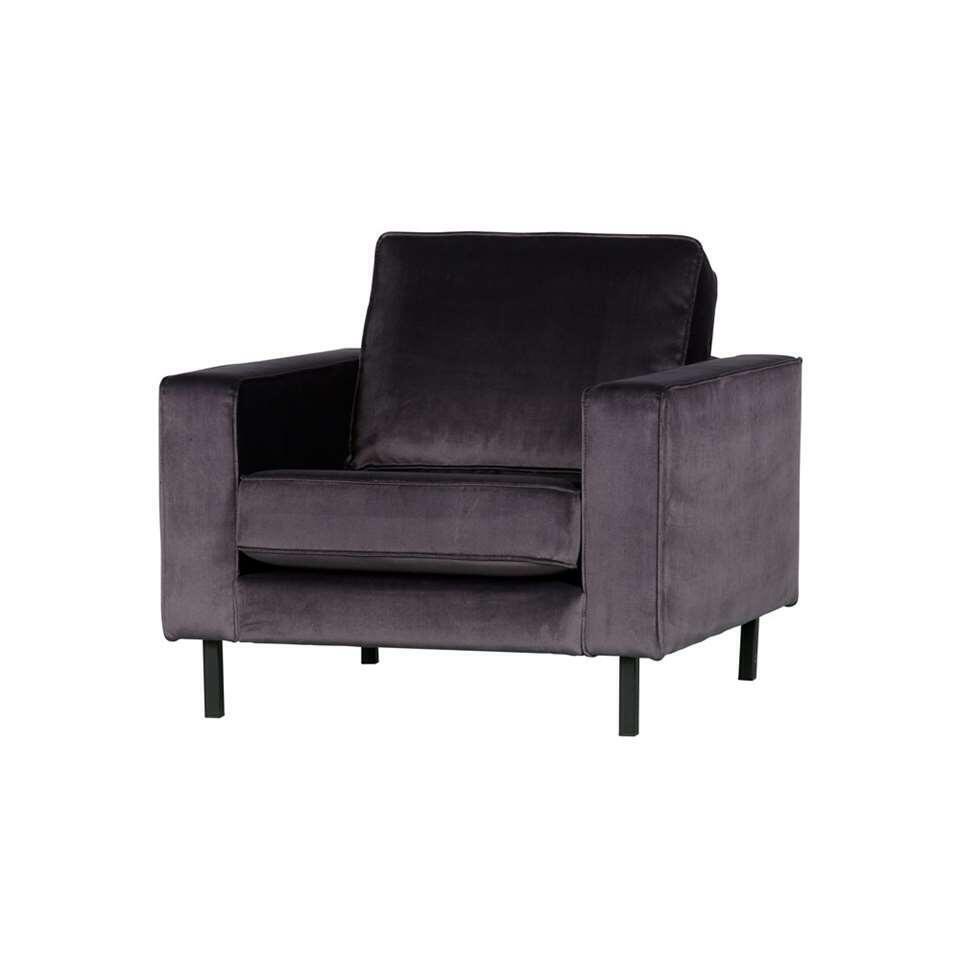 Woood fauteuil Robin - antraciet - 80x97x93 cm - Leen Bakker
