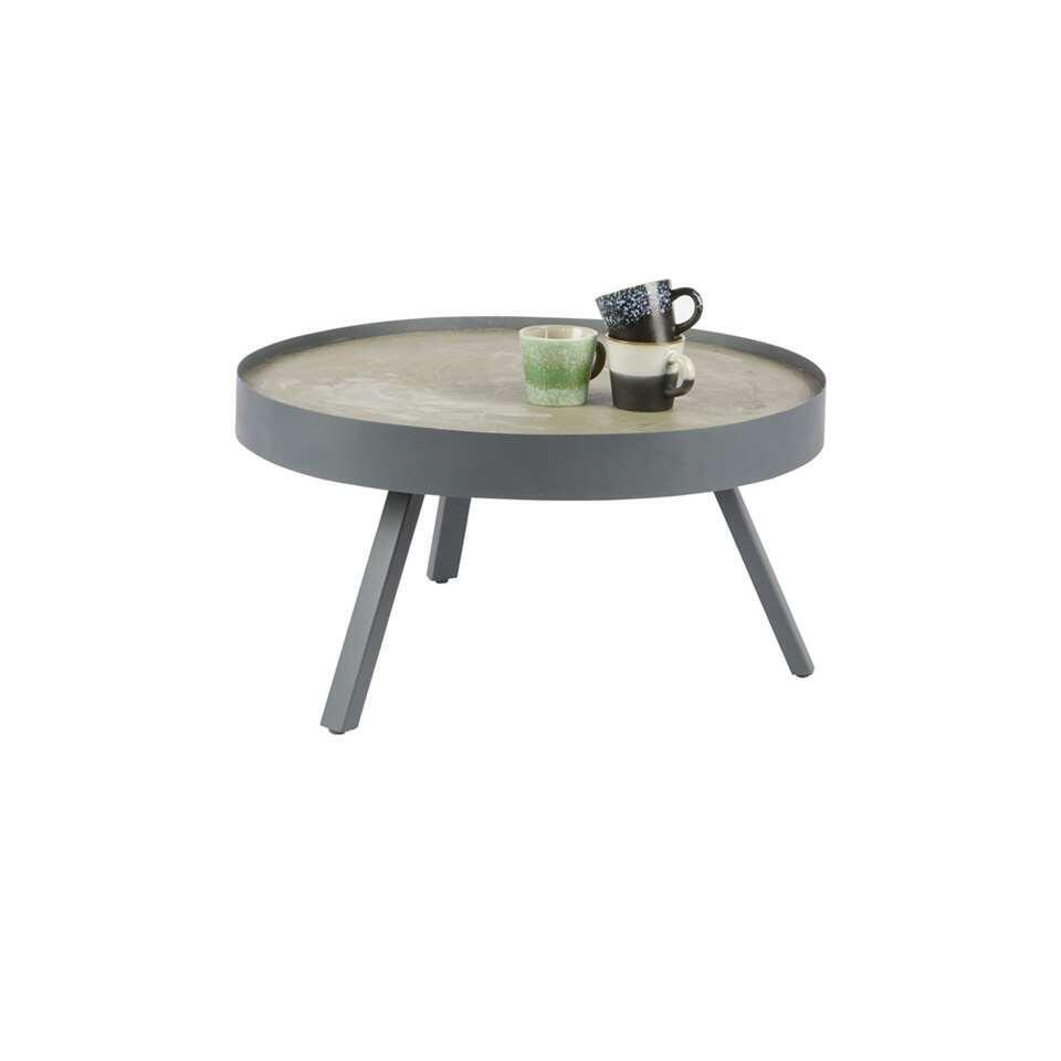 Woood salontafel Skip - betongrijs - 38xØ74 cm - Leen Bakker