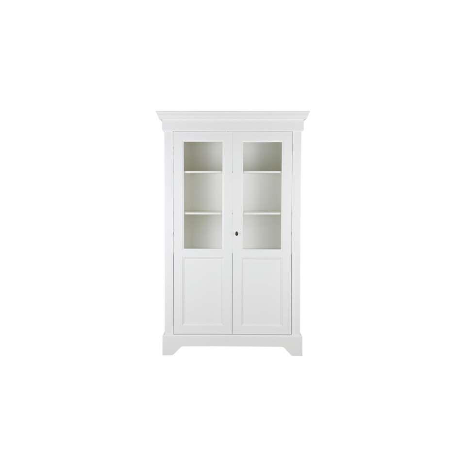 Woood vitrine Anna - wit - 191x118x47 cm - Leen Bakker