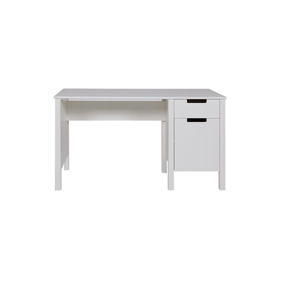 Woood bureau Jade - wit - 140x60x75 cm
