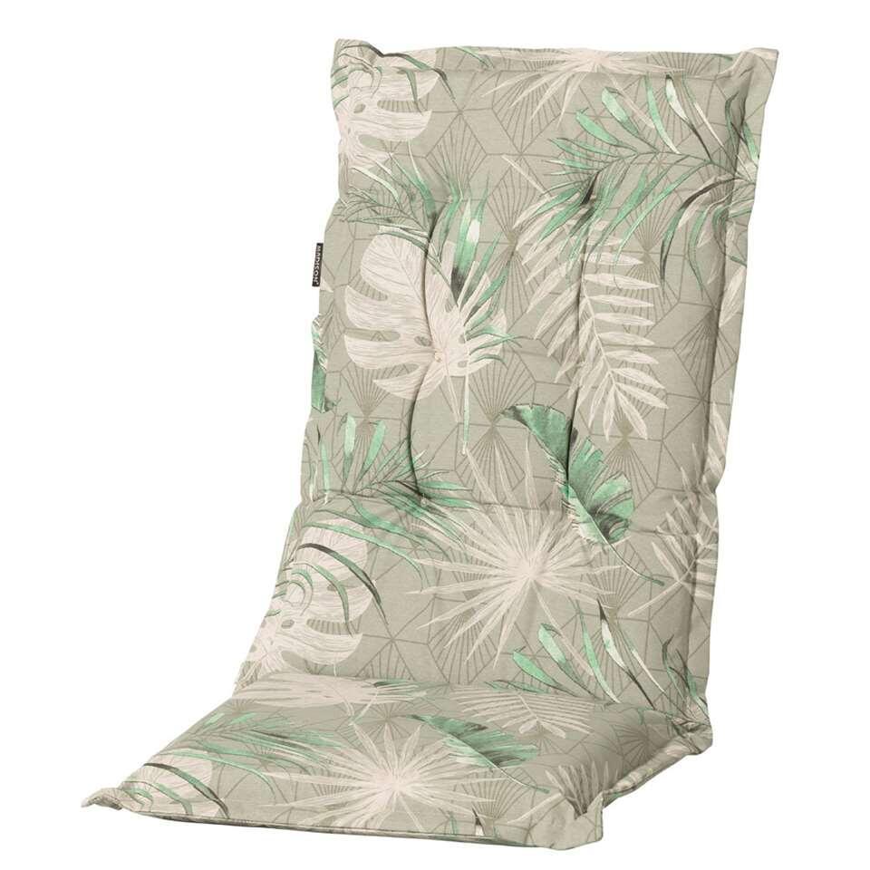 Madison terrasstoelkussen Dotan - groen - 123x50 cm - Leen Bakker