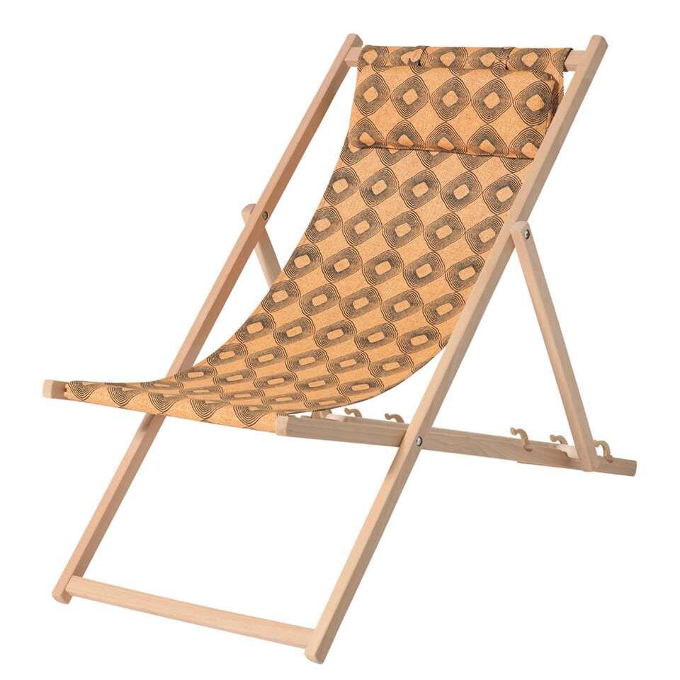 Madison strandstoel outdoor Rondo - geel - Leen Bakker