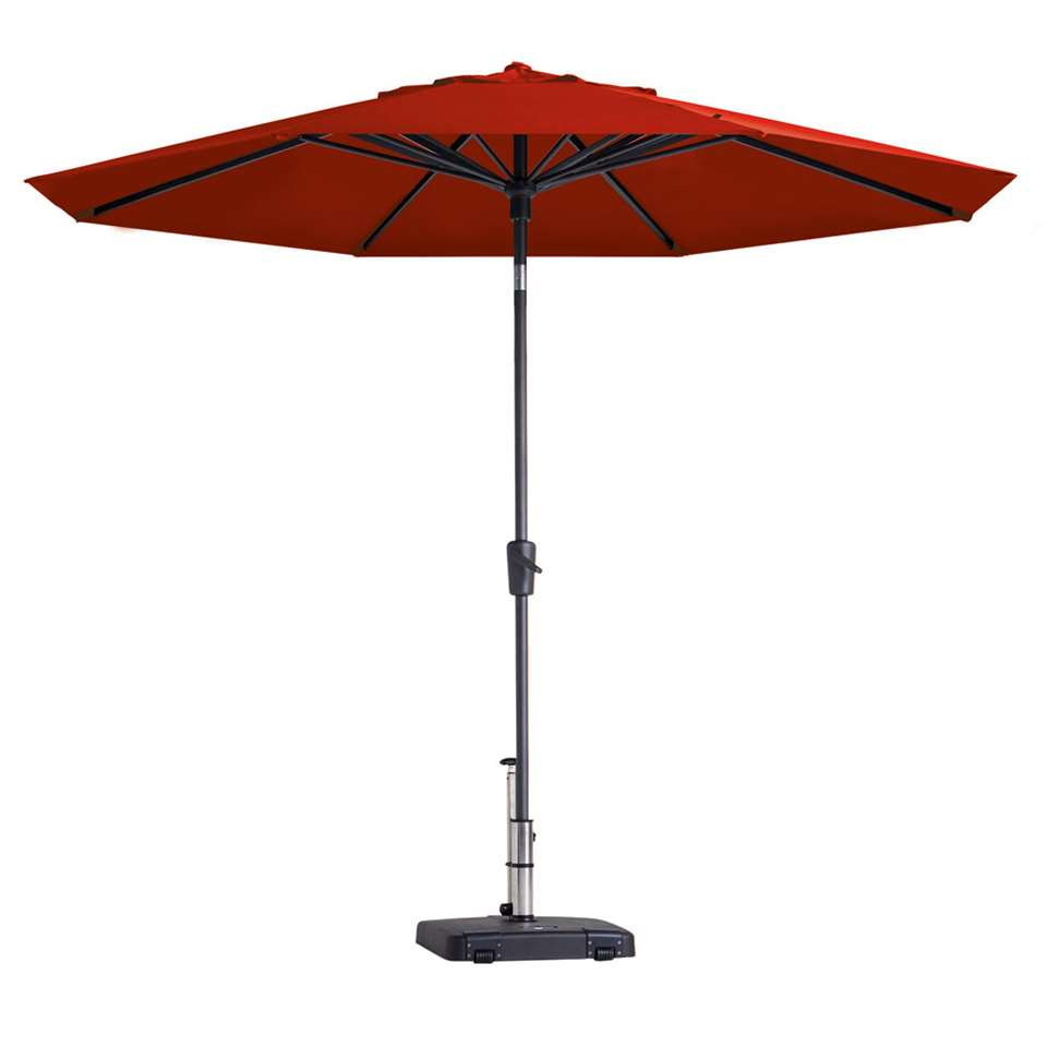 Madison parasol Paros - rood - Ø300 cm - Leen Bakker