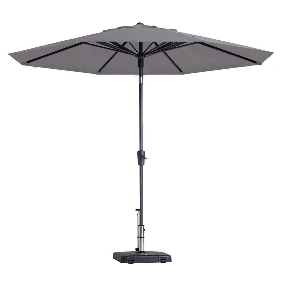 Madison parasol Paros - lichtgrijs - Ø300 cm - Leen Bakker
