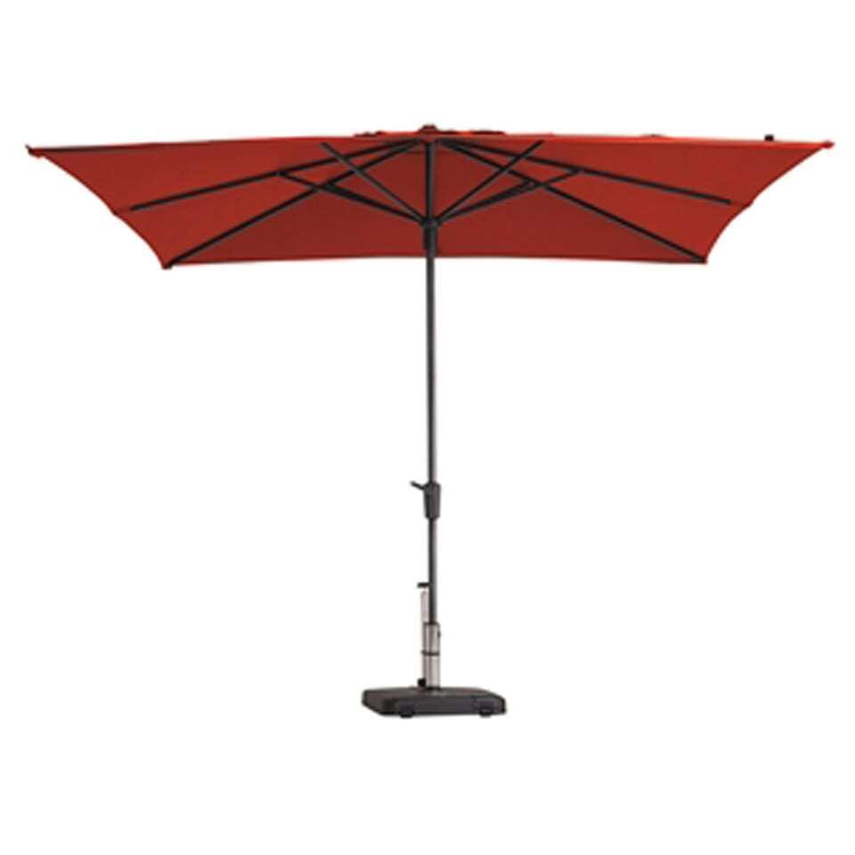 Madison parasol Syros - rood - 280x280 cm - Leen Bakker