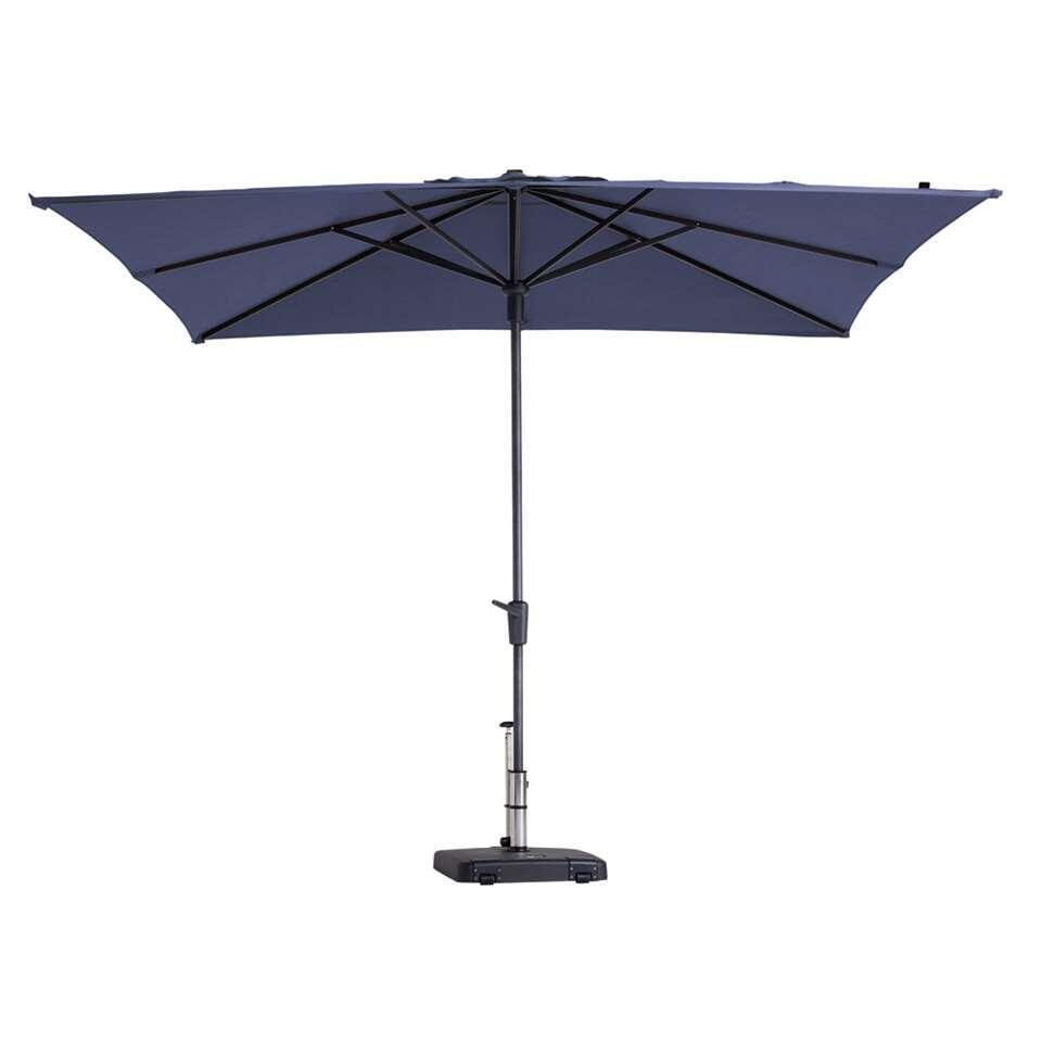 Madison parasol Syros - blauw - 280x280 cm - Leen Bakker