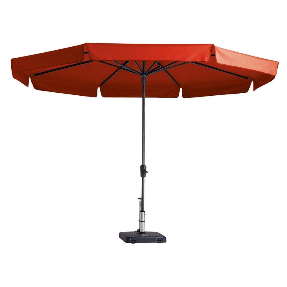 Madison parasol Syros - rood - Ø350 cm - Leen Bakker