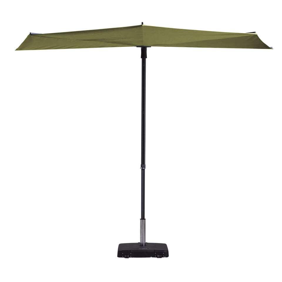 Madison parasol Sun Wave - groen - Ø300 cm - Leen Bakker