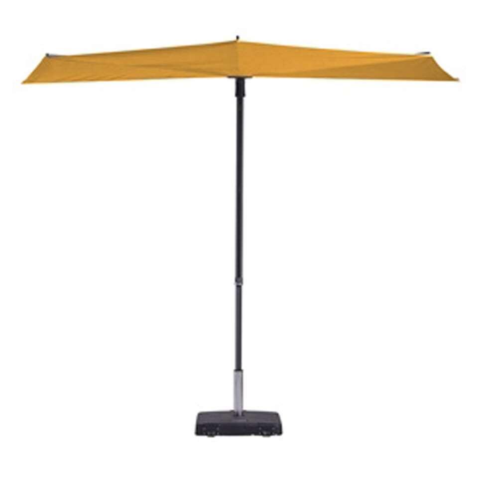 Madison parasol Sun Wave - geel - Ø300 cm - Leen Bakker