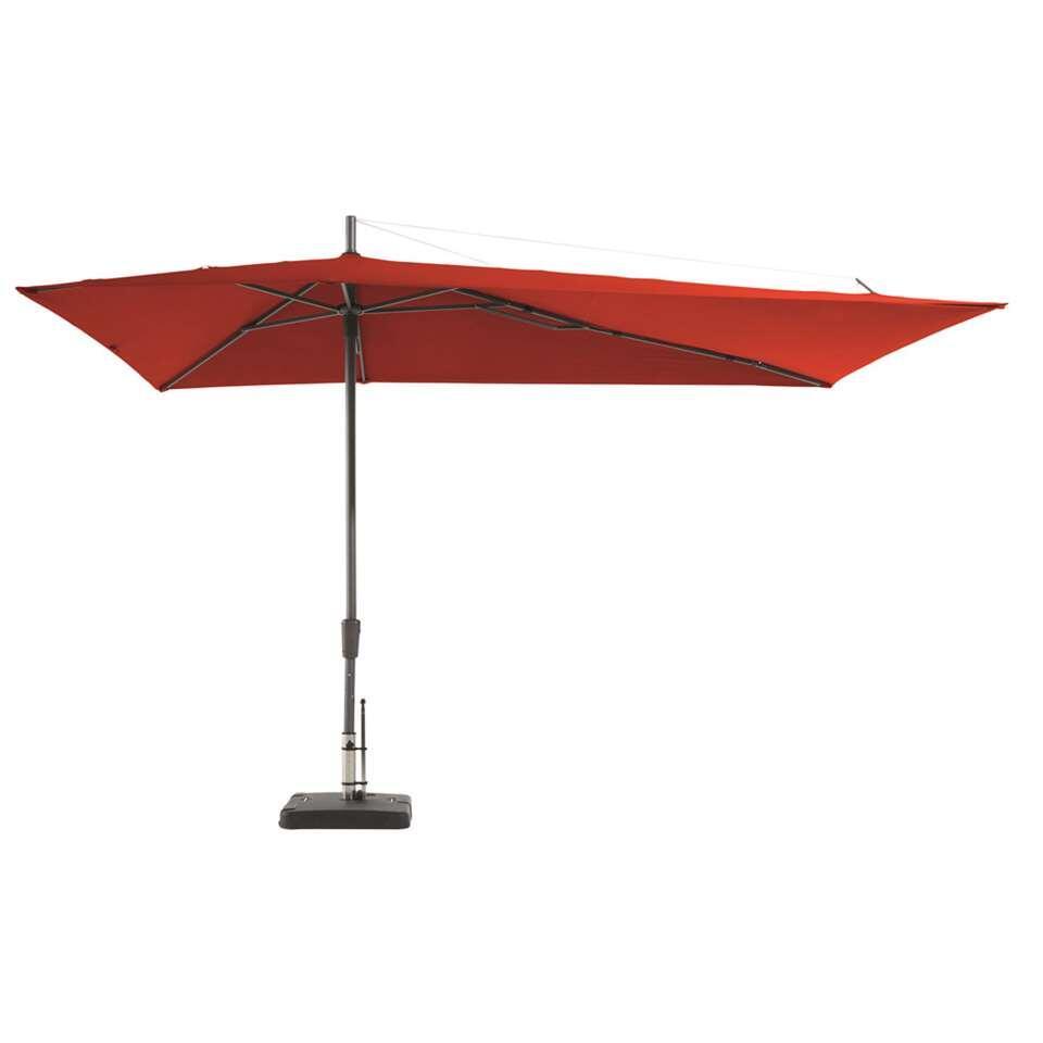 Madison parasol Asymetriq - rood - 220 cm - Leen Bakker