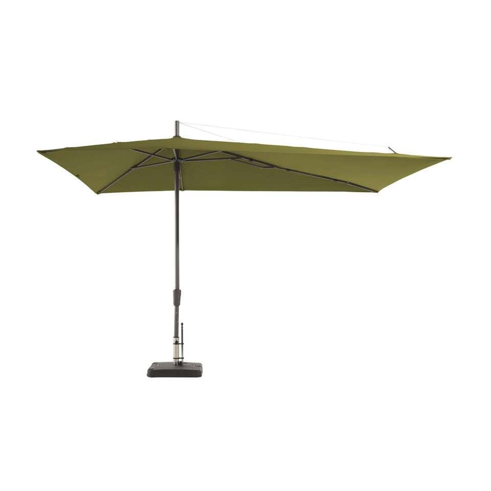 Madison parasol Asymetriq - groen - 220 cm - Leen Bakker