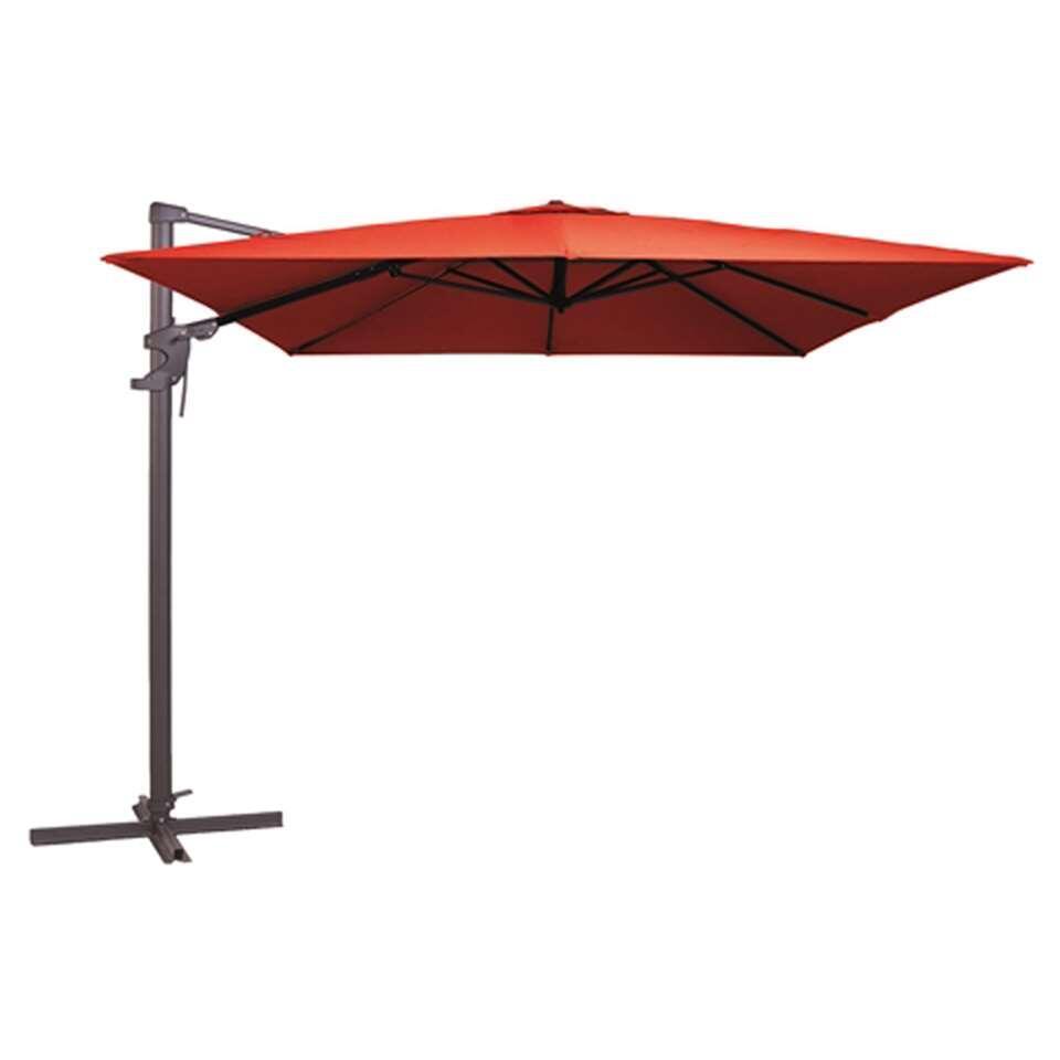 Madison parasol Monaco - rood - 300x300 cm - Leen Bakker