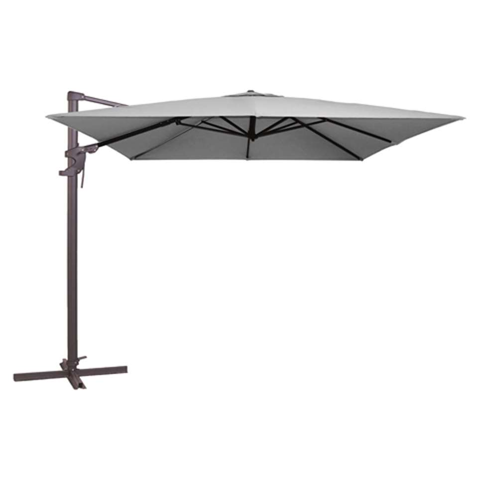Madison parasol Monaco - lichtgrijs - 300x300 cm - Leen Bakker