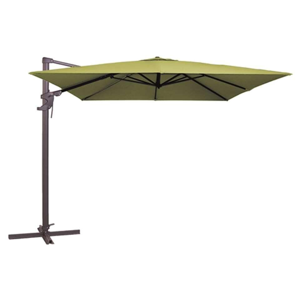 Madison parasol Monaco - groen - 300x300 cm - Leen Bakker