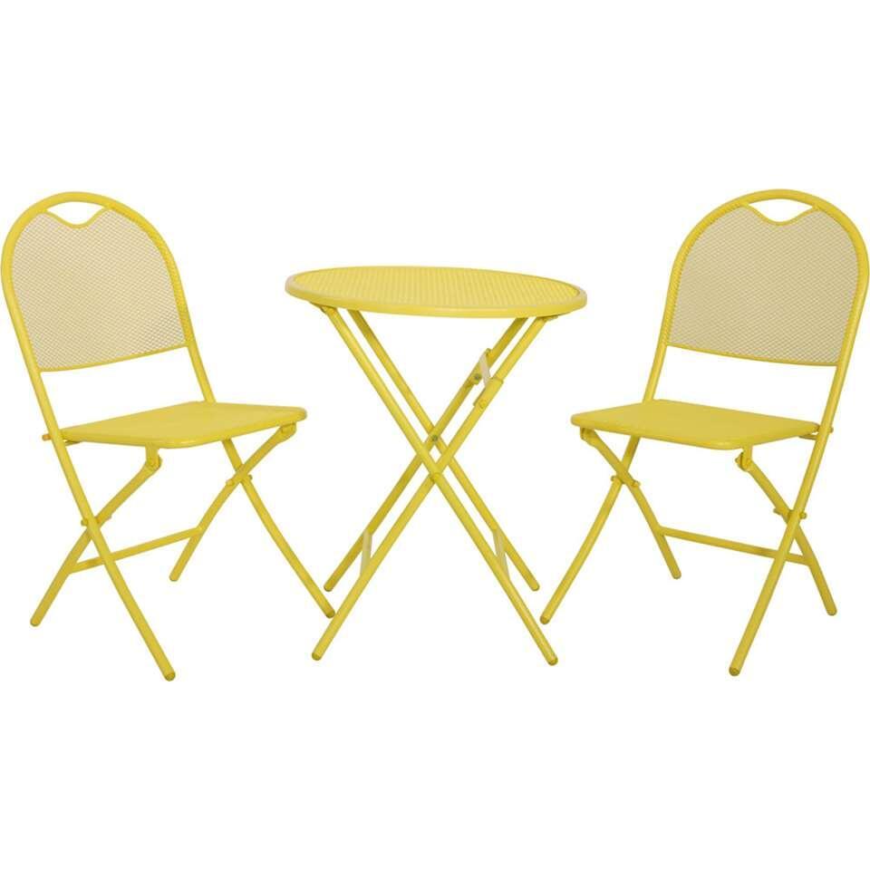 Tuinset Mesh - geel - 3-delig - Leen Bakker