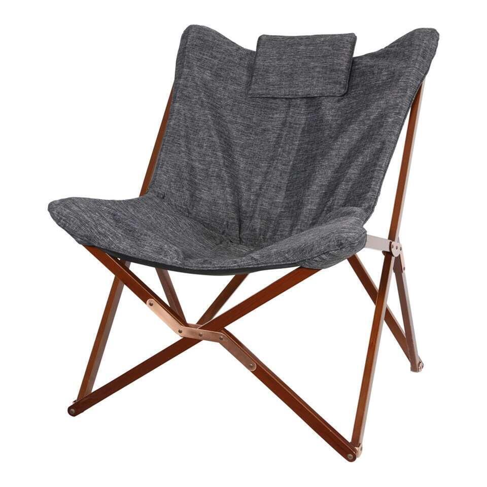 Vlinderstoel - grijs - 95x73x85 cm - Leen Bakker