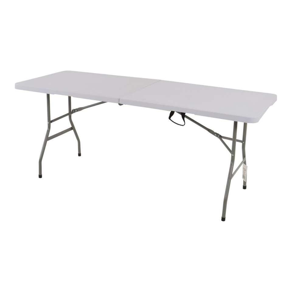 Party/Buffettafel inklapbaar - wit - 180x70x74 cm - Leen Bakker