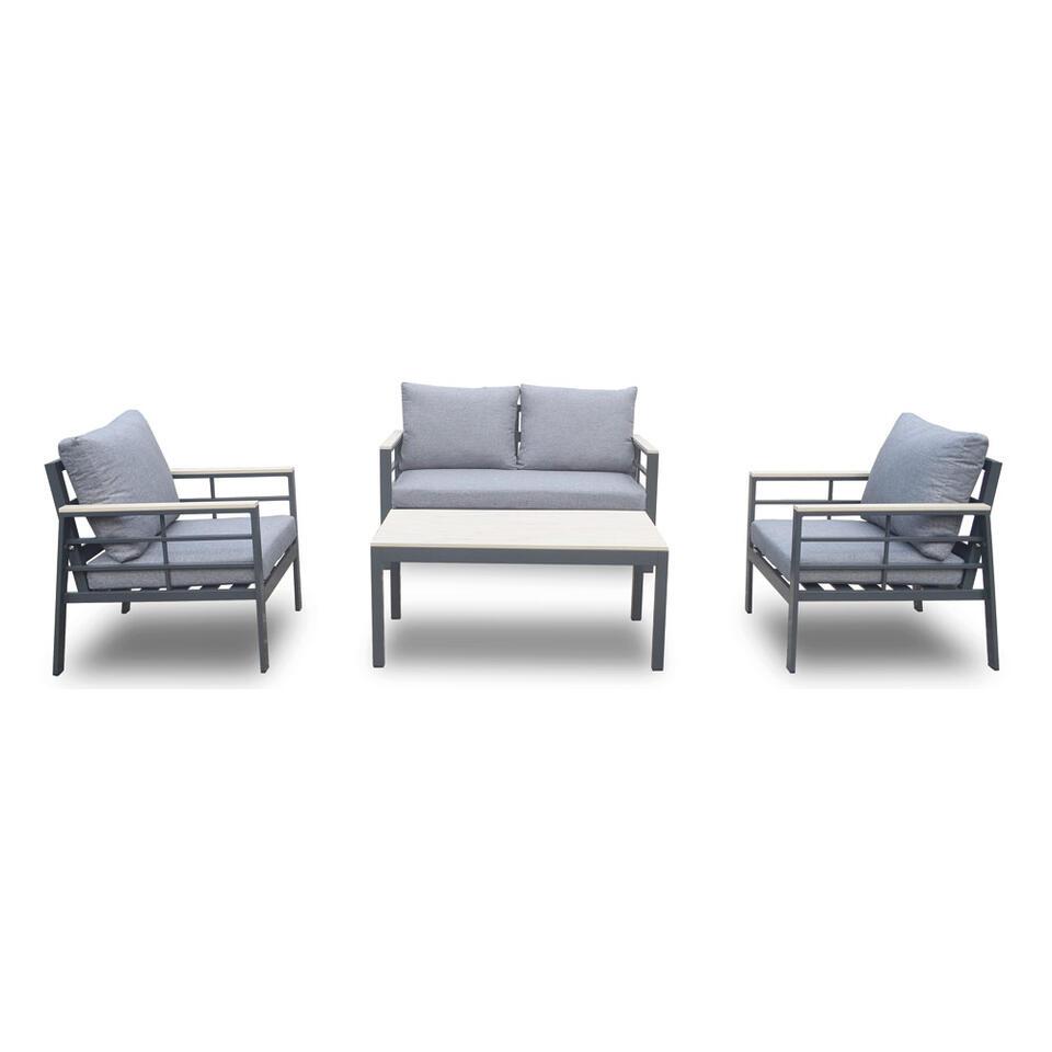 SenS-Line loungeset Forza - antraciet - 4-delig - Leen Bakker