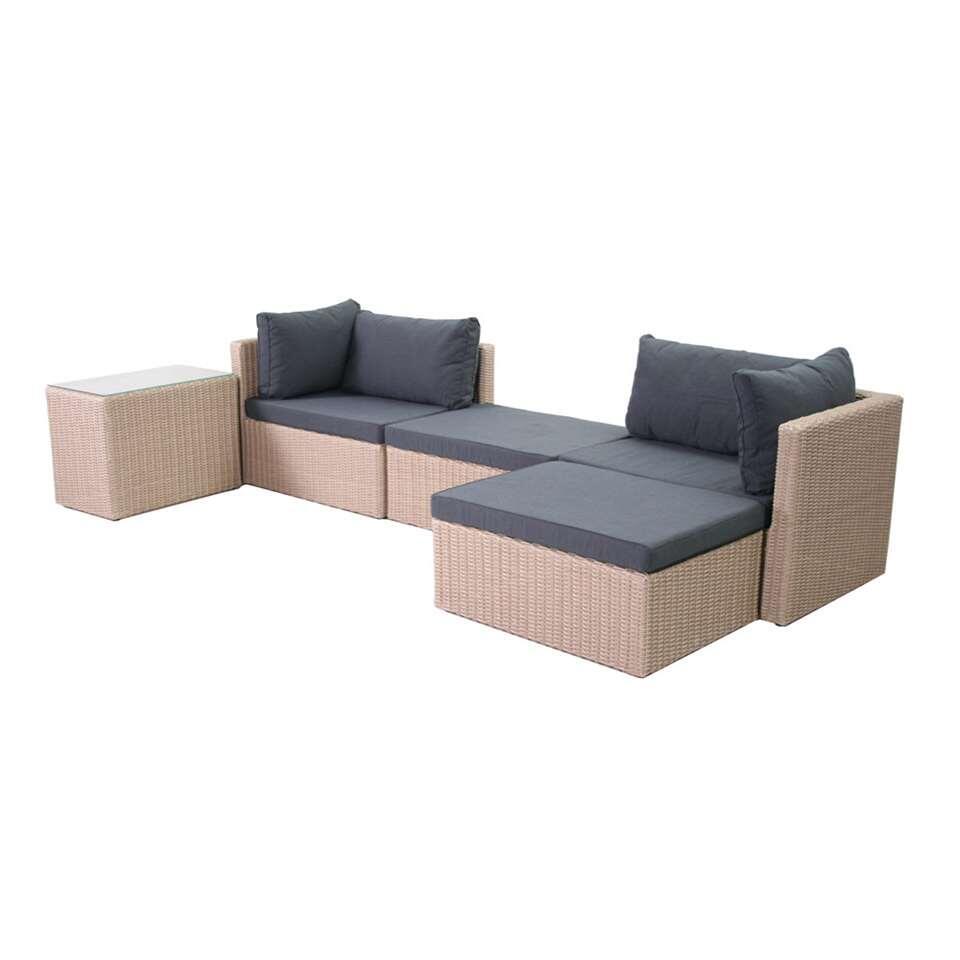 SenS-Line loungeset Tommy - bruin - 5-delig - Leen Bakker