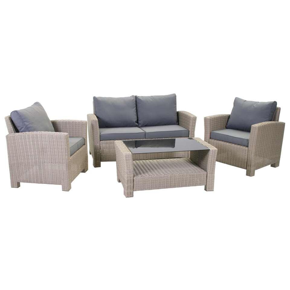 SenS-Line loungeset Colorado - bruin - 4-delig - Leen Bakker