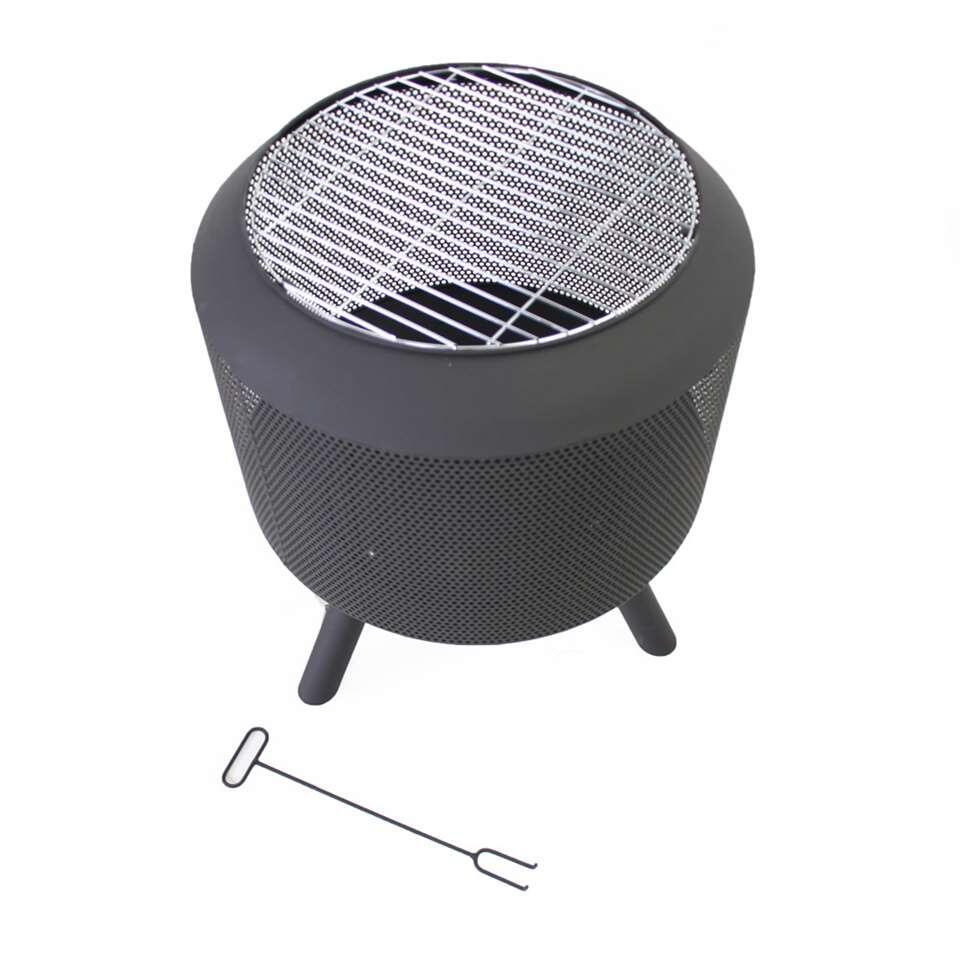 SenS-Line trommelpot - zwart - Ø54,5x60 cm - Leen Bakker