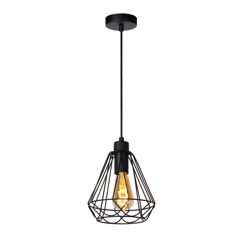 Lucide hanglamp Kyara Ø20 cm – zwart – Leen Bakker
