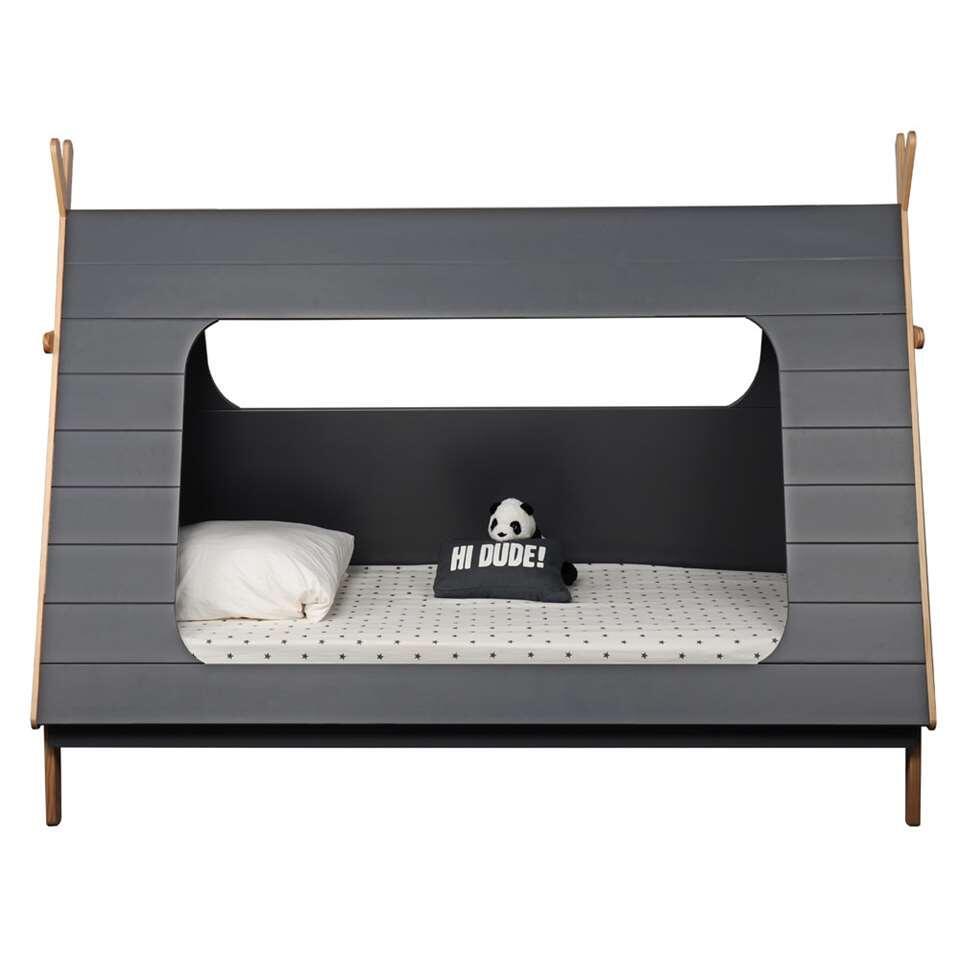 Bln Kids bed Tipi - grijs/naturel - 165x105x214,4 cm - Leen Bakker