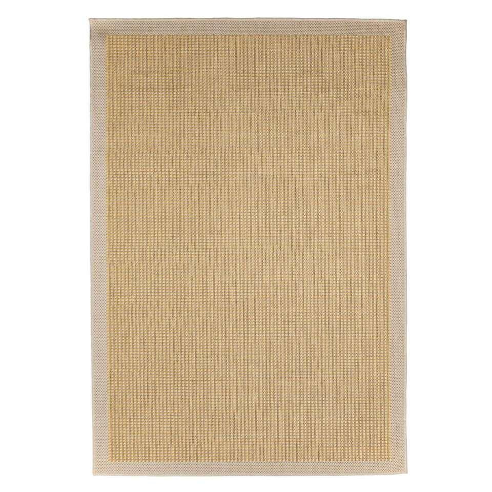 Floorita binnen/buitenvloerkleed Chrome - geel - 160x230 cm - Leen Bakker