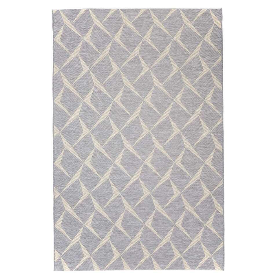 Floorita binnen/buitenvloerkleed Rete - zilver - 194x290 cm - Leen Bakker