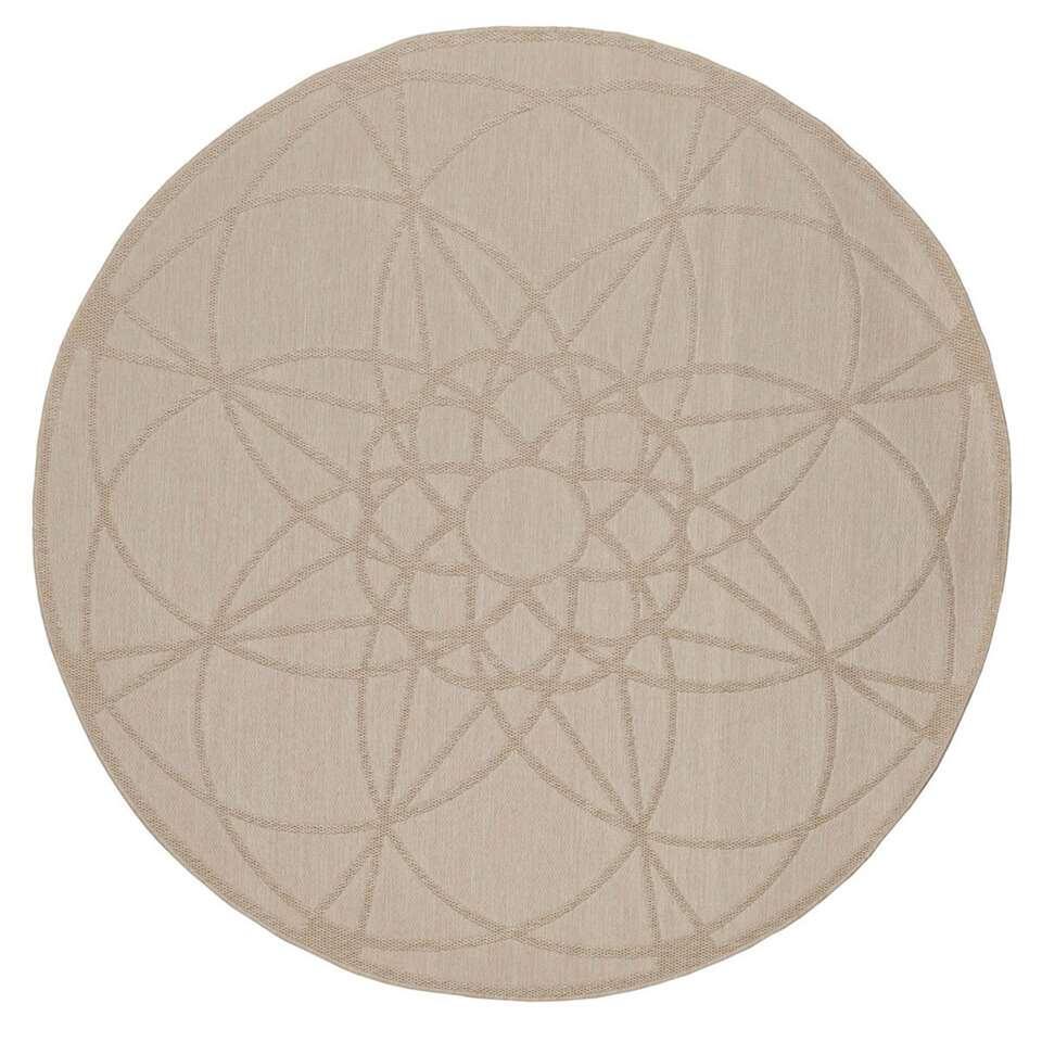 Floorita binnen/buitenvloerkleed Tondo - ecru - 194 cm