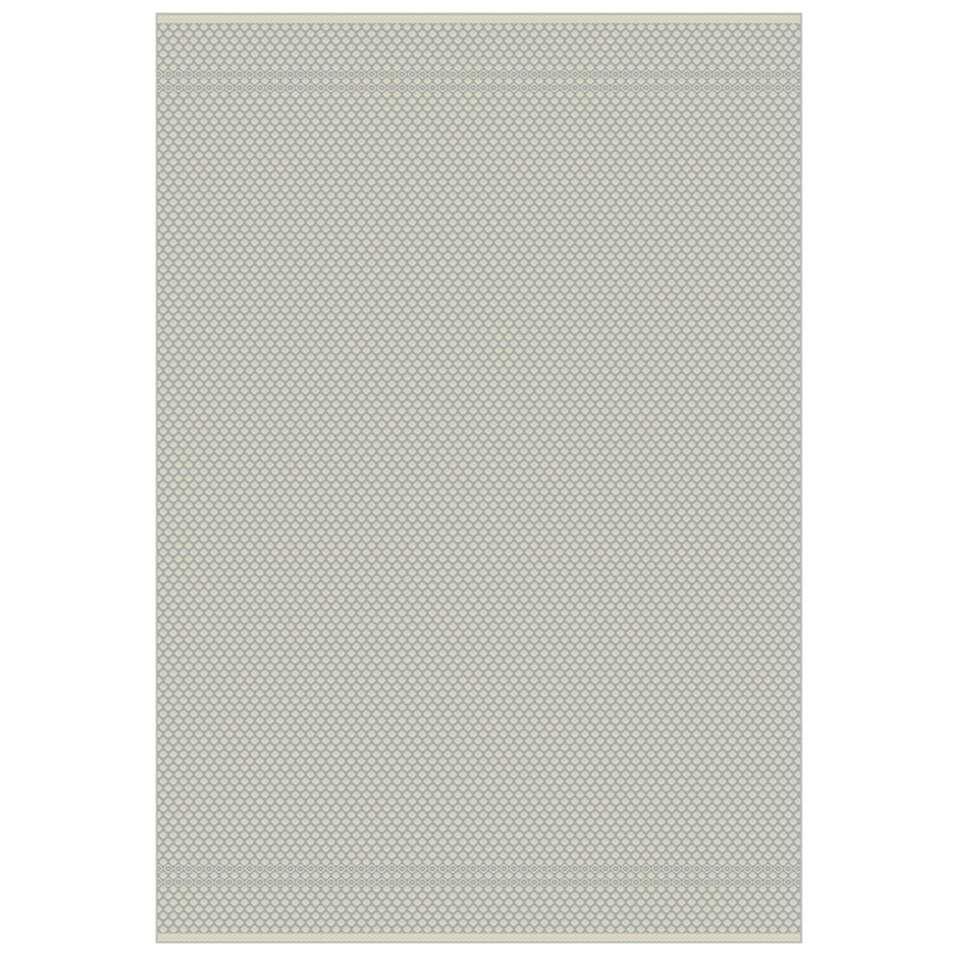 Floorita binnen/buitenvloerkleed Pallino - grijs - 194x290 cm - Leen Bakker