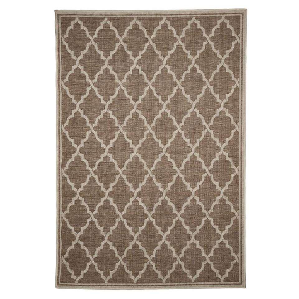 Floorita binnen/buitenvloerkleed Intreccio - naturel - 160x230 cm - Leen Bakker
