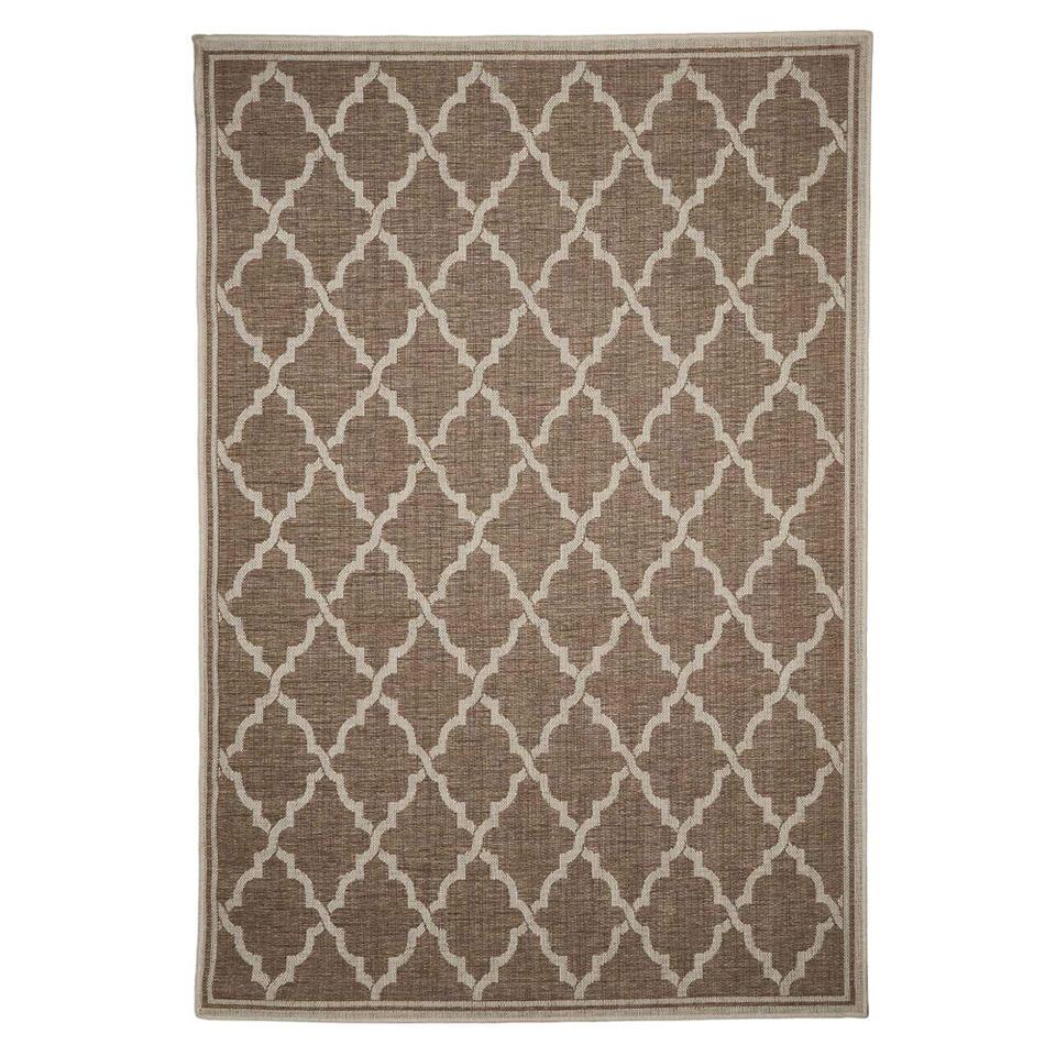 Floorita binnen/buitenvloerkleed Intreccio - naturel - 200x290 cm - Leen Bakker