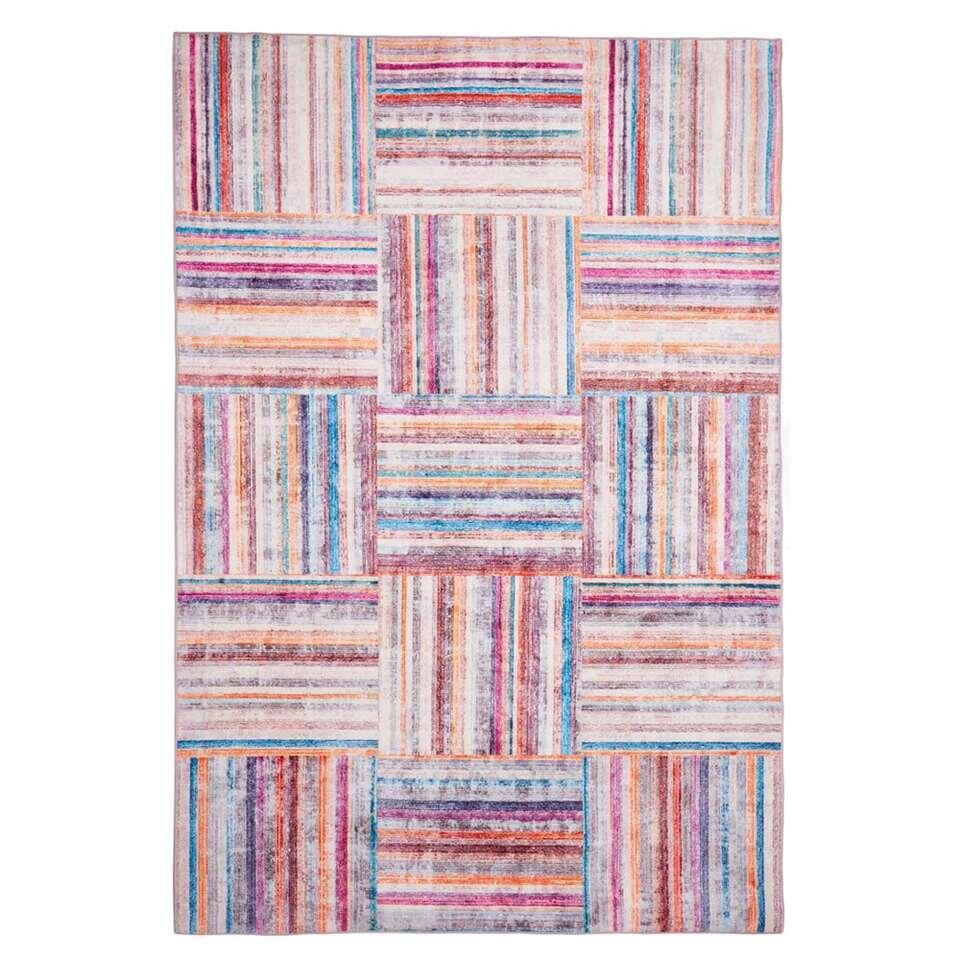 Floorita Easy-care vloerkleed Pastello - multikleur - 120x180 cm - Leen Bakker