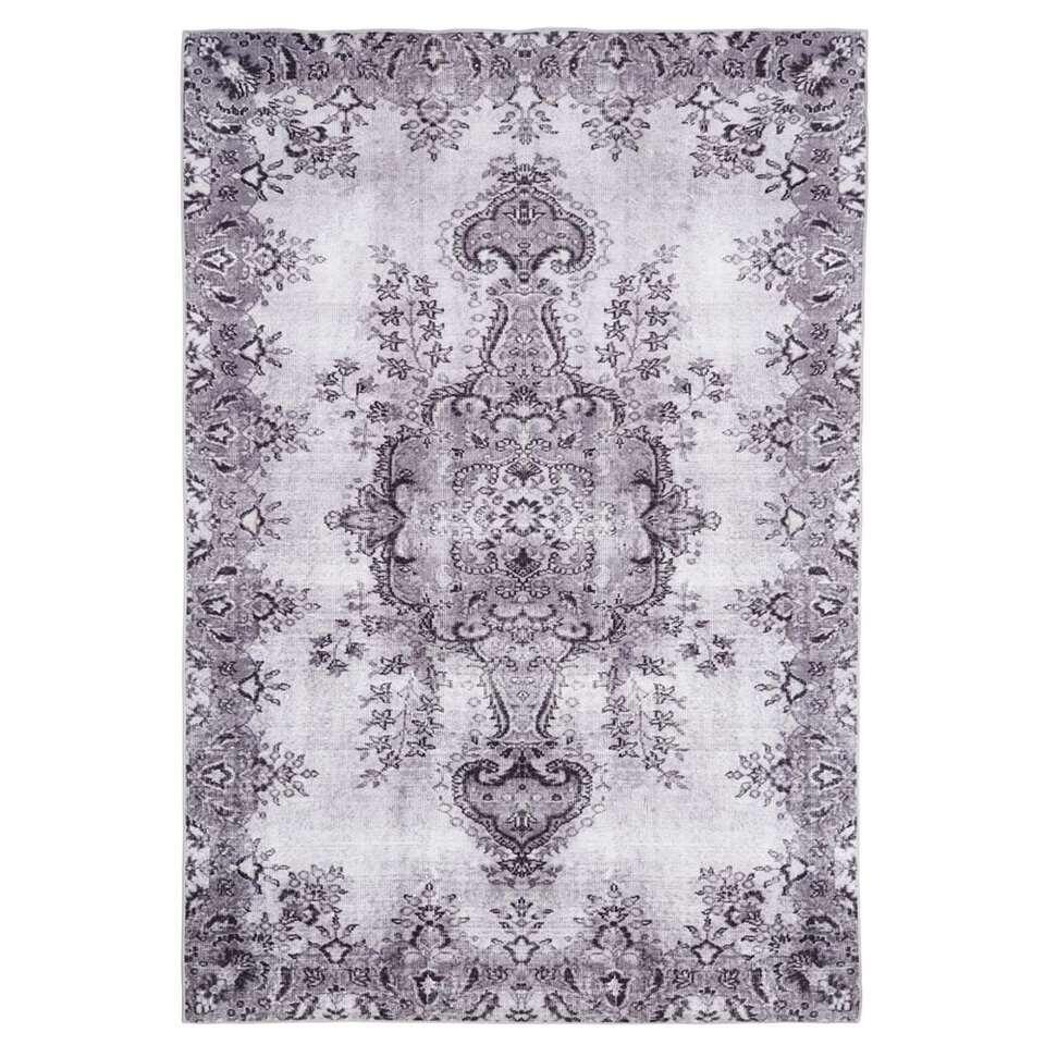 Floorita Easy-care vloerkleed Jasmine - lichtgrijs - 160x230 cm - Leen Bakker