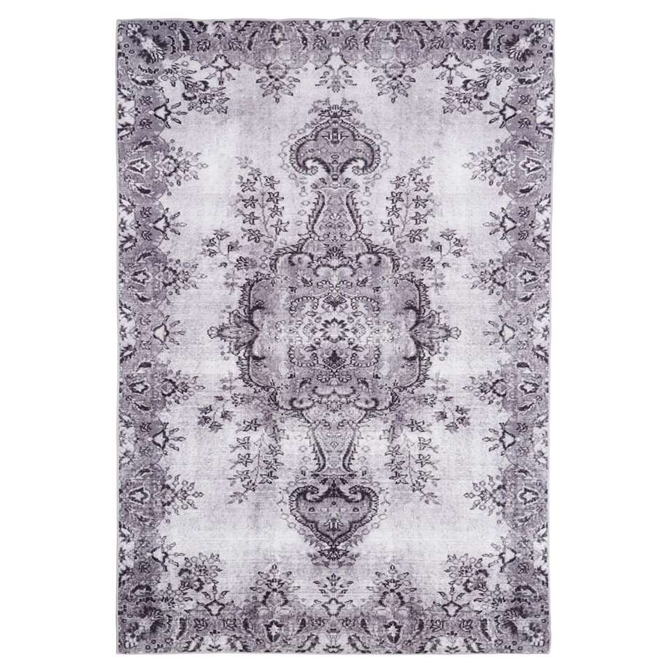 Floorita Easy-care vloerkleed Jasmine – lichtgrijs – 200×290 cm – Leen Bakker