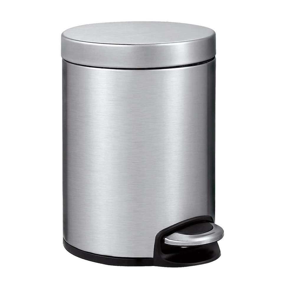 EKO pedaalemmer Serene - zilverkleurig - 5l - Leen Bakker