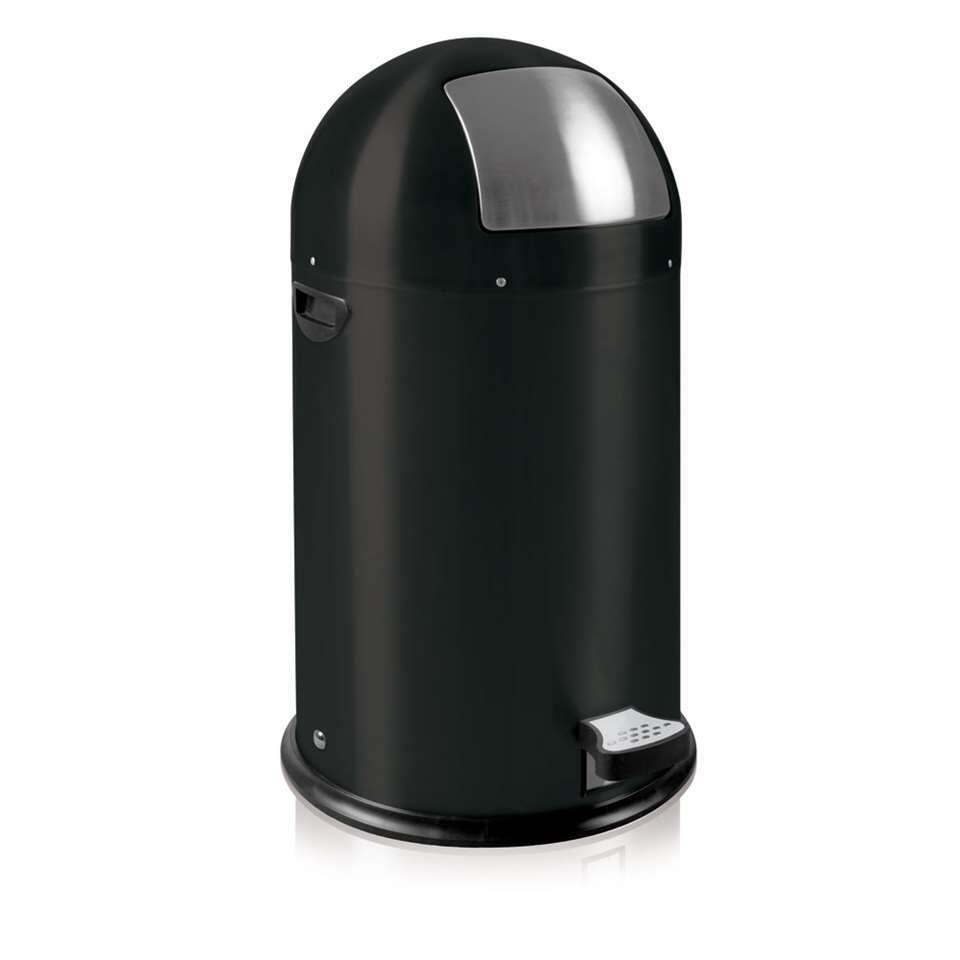 EKO pedaalemmer Kickcan - mat zwart - 33l