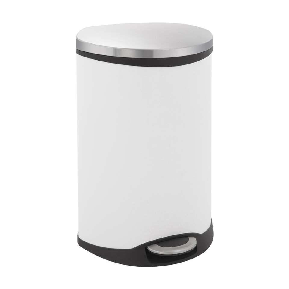 EKO recycling pedaalemmer Shell Bin - wit - 2x22l