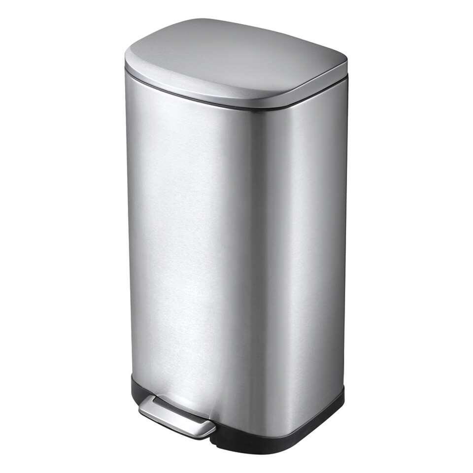 EKO pedaalemmer Della - zilverkleurig - 35l