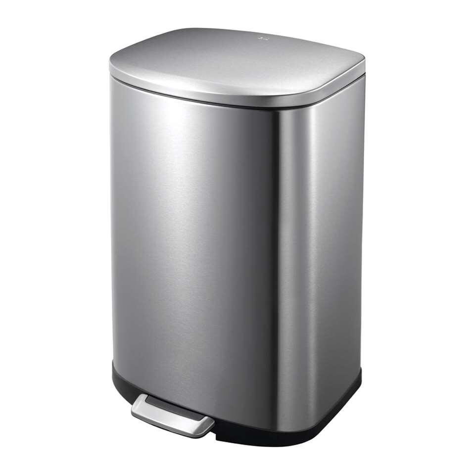 EKO pedaalemmer Della - zilverkleurig - 50l - Leen Bakker